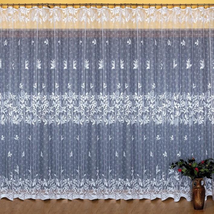 арт.                                             648043 высота 250 см, метраж из белоснежного жаккарда с вытканным узором из блестящей пряжи