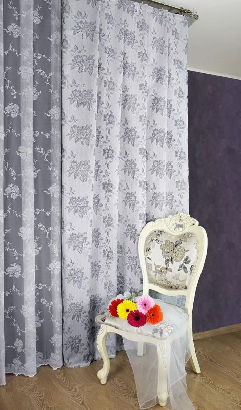 арт.                                             3899-П, метраж, Szare Roze (СЕРАЯ РОЗА), цвет светло-серый - темно серый, ширина 1,9 м