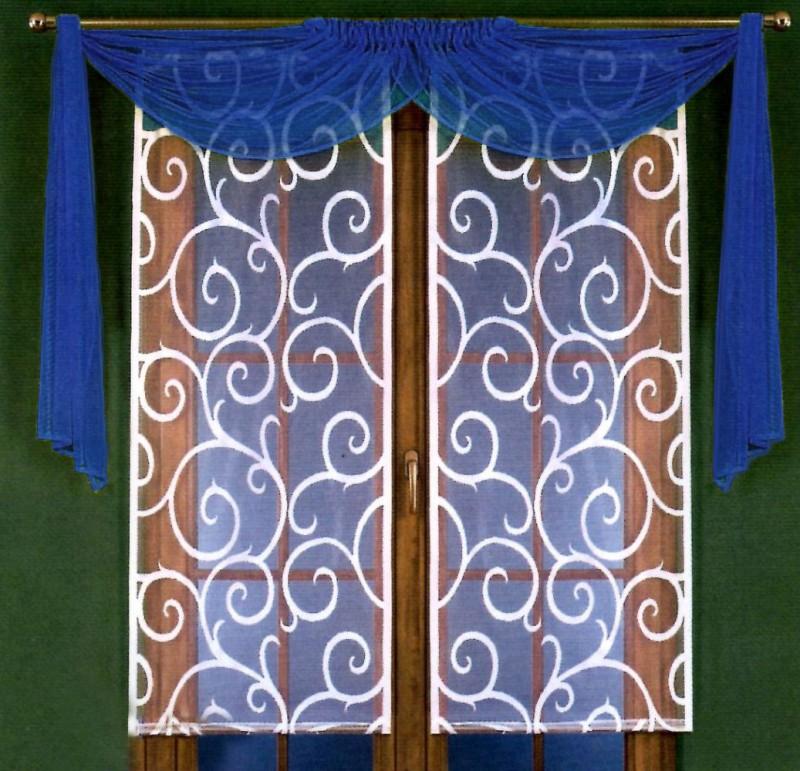 Готовые шторы 5880, Kamila (Камила), комплект в восточном стиле. Цвет ламбрекена - СИНИЙ,  размеры: кремовые панели - 60 см ширина * 150 см высота каждой, драппировка - (150 см * 220 см) х 2НИЖНЕГО УТЯЖЕЛИТЕЛЯ - НЕТ.