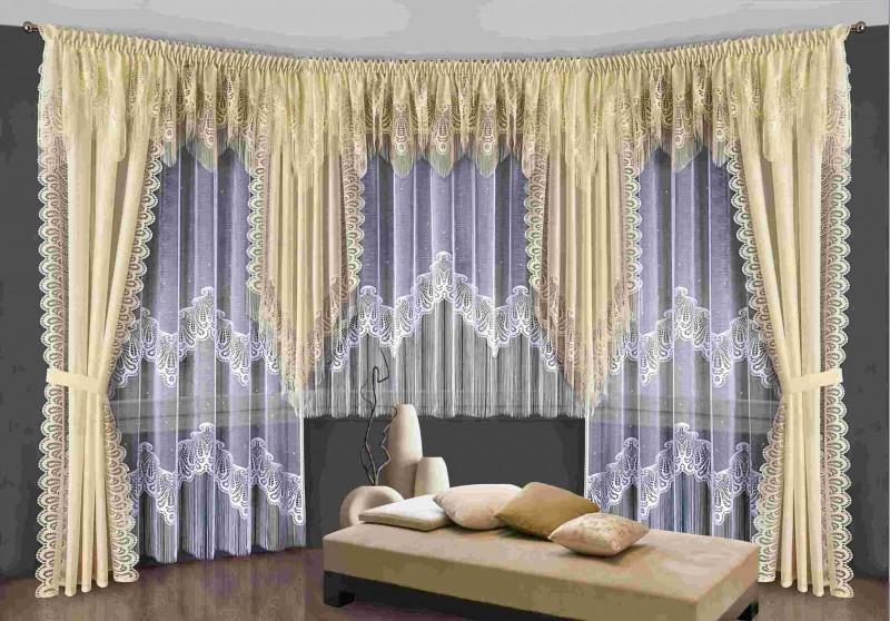 Готовые шторы 5995, КОМПЛЕКТ  САН-РЕМО (комплектация как на фото) состоит из 8 предметов.