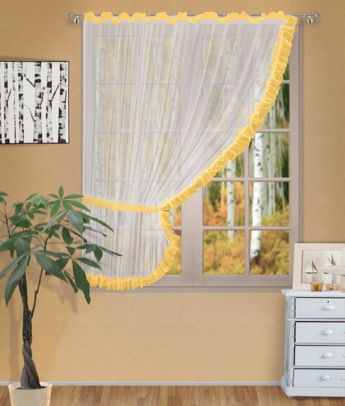 Готовые шторы арт.                                             207303 крем/персик, ДИАНА, ЛЕВАЯ, цвет основы - крем, персиковая оборка, размеры: 200 см ширина х 170 см высота