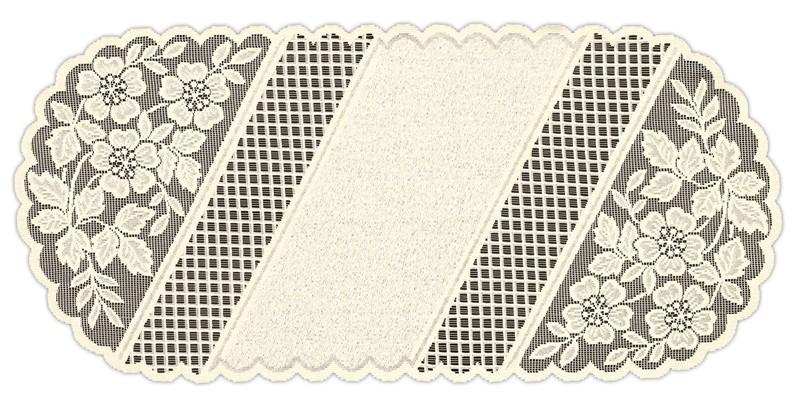 219771/50, овальная, размер 50 см х 110 см, цвет: кремовый